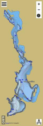 Lake Vermilion Fishing Map - i-Boating App
