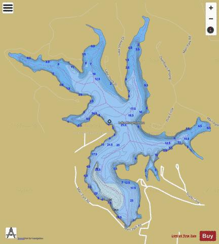 Lake Murphysboro Fishing Map - i-Boating App