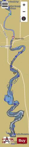 Lake Freeman Fishing Map - i-Boating App