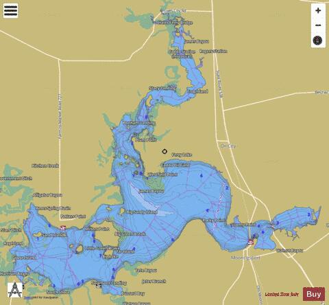 Caddo Lake Fishing Map - i-Boating App