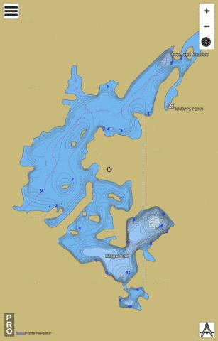 Knops Pond Fishing Map - i-Boating App
