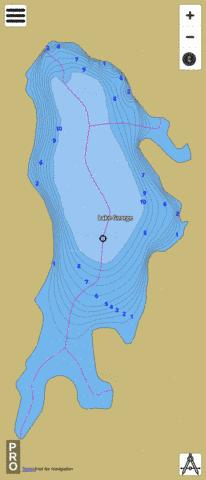 Lake George Fishing Map - i-Boating App