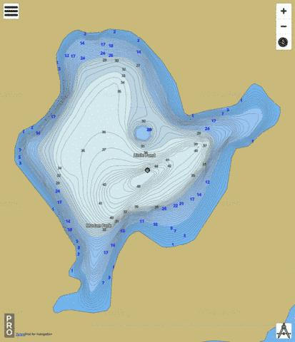 Little Pond Fishing Map - i-Boating App