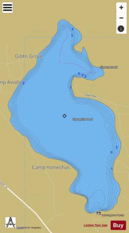 Tispaquin Pond Fishing Map - i-Boating App