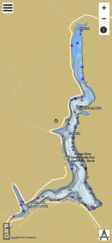 Savage River Reservoir Fishing Map - i-Boating App