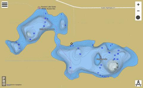 Hanson Lake Fishing Map - i-Boating App