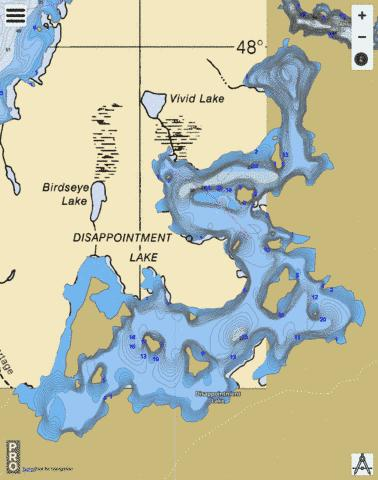 Lake Disappointment Fishing Map - i-Boating App