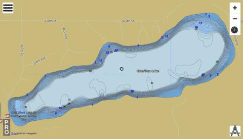 Lake East Silent Fishing Map - i-Boating App