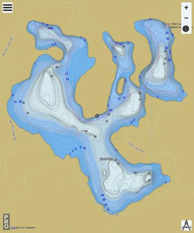 Lake Hart Fishing Map - i-Boating App