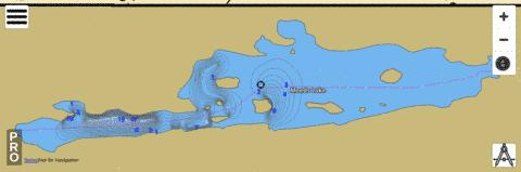 Lake Meeds Fishing Map - i-Boating App