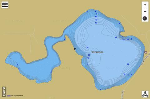 Lake Norway Fishing Map - i-Boating App