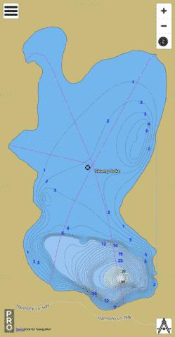 Lake Swamp Fishing Map - i-Boating App
