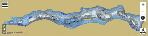 Lake West Pike Fishing Map - i-Boating App