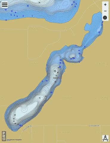 Long Lake A Fishing Map - i-Boating App