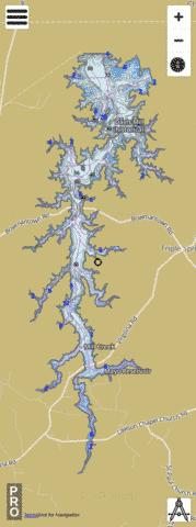 Mayo Reservoir Fishing Map - i-Boating App