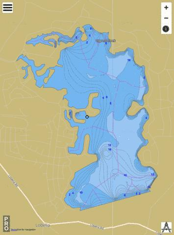 Lake Surf Fishing Map - i-Boating App