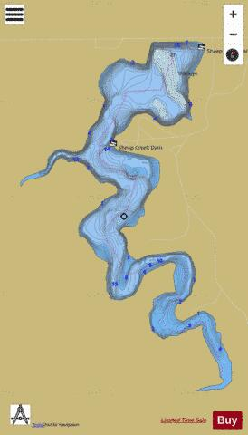 Lake Sheep Creek Fishing Map - i-Boating App