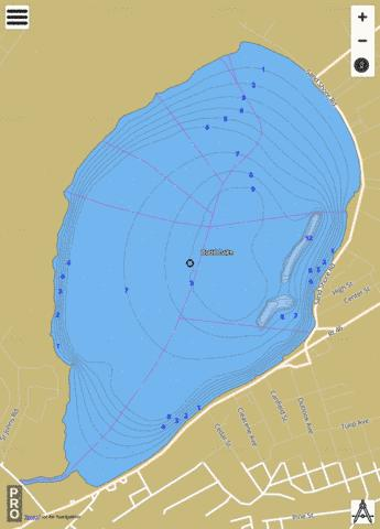 Budd Lake Fishing Map - i-Boating App