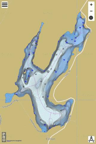 Clinton Reservoir Fishing Map - i-Boating App