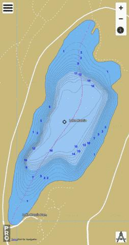 Lake Marcia Fishing Map - i-Boating App