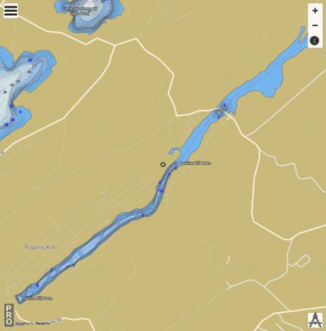 Paulinskill Lake Fishing Map - i-Boating App