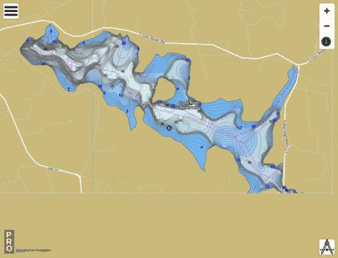 Cross River Reservoir Fishing Map - i-Boating App