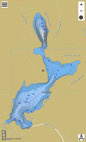 Dyken Pond Fishing Map - i-Boating App