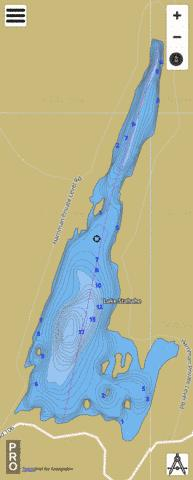 Lake Stahahe Fishing Map - i-Boating App