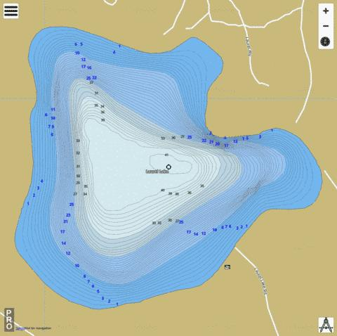 Laurel Lake Fishing Map - i-Boating App