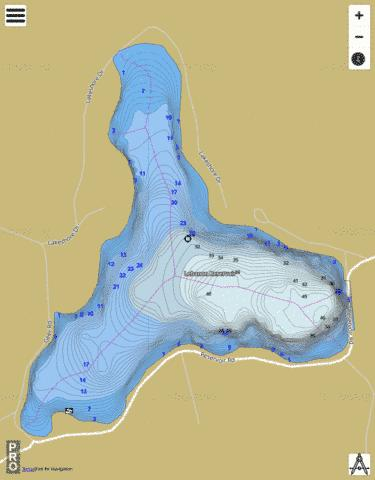 Lebanon Reservoir Fishing Map - i-Boating App