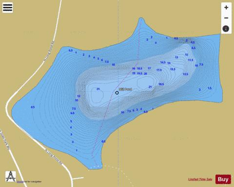 Mill Pond Fishing Map - i-Boating App