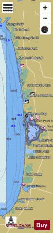 North Sandy Pond Fishing Map - i-Boating App