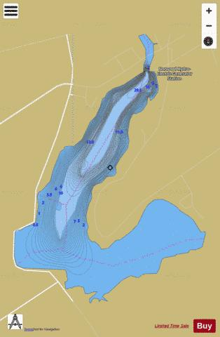 Norwood Reservoir Fishing Map - i-Boating App