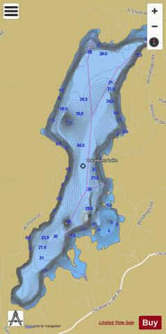 Oscawana Lake Fishing Map - i-Boating App