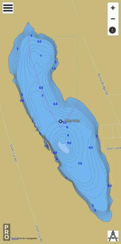 Otter Lake Fishing Map - i-Boating App