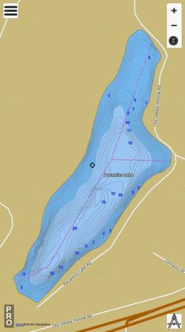 Pocantico Lake Fishing Map - i-Boating App