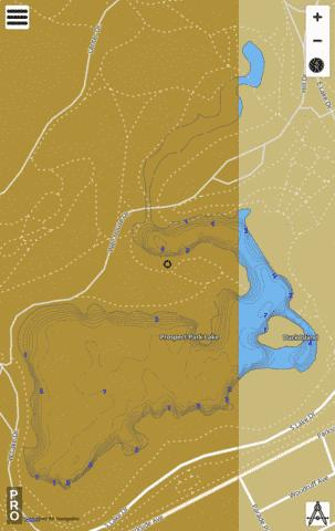 Prospect Park Lake Fishing Map - i-Boating App