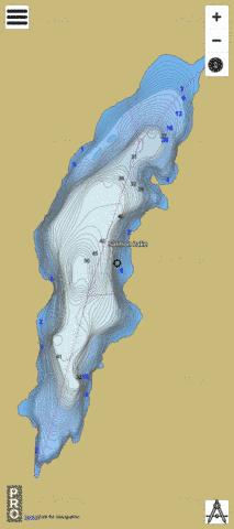 Salmon Lake Fishing Map - i-Boating App