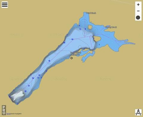 South Colton Reservoir Fishing Map - i-Boating App