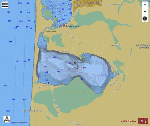 South Sandy Pond Fishing Map - i-Boating App