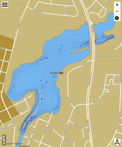 Wappinger Lake Fishing Map - i-Boating App
