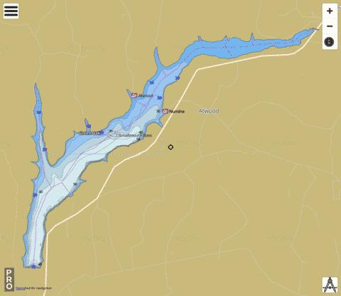 Keystone Lake Fishing Map - i-Boating App