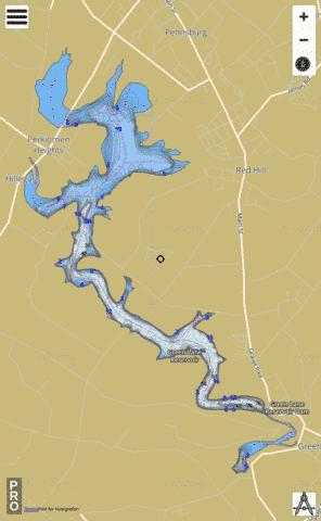 Green Lane Reservoir Fishing Map - i-Boating App