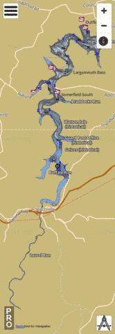 Youghiogheny River Lake Fishing Map - i-Boating App