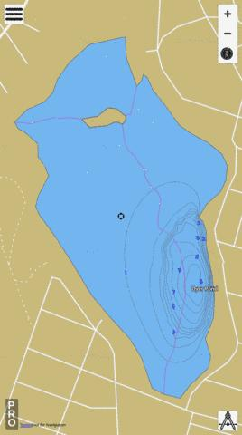Dyer Pond Providence Fishing Map - i-Boating App
