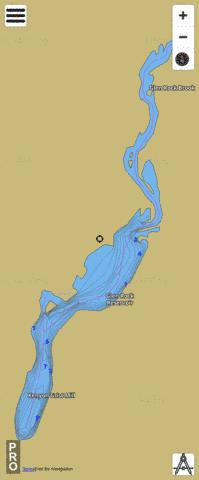 Glen Rock Reservoir Fishing Map - i-Boating App