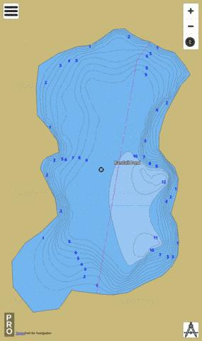 Randall Pond Providence Fishing Map - i-Boating App