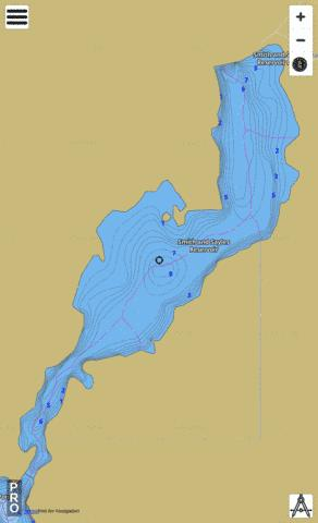 Smith And Sayles Reservoir Fishing Map - i-Boating App