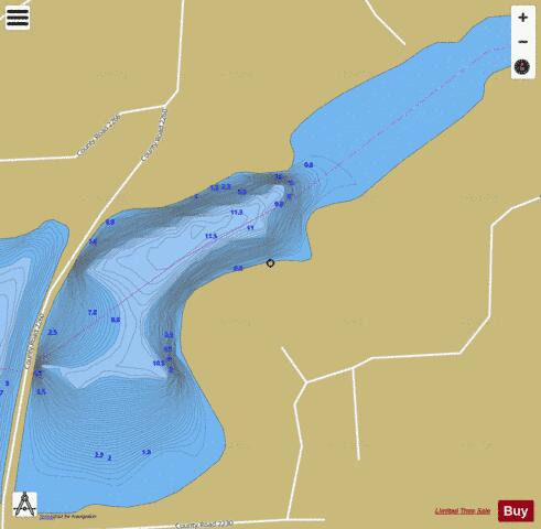 East Holbrook Lake Fishing Map - i-Boating App