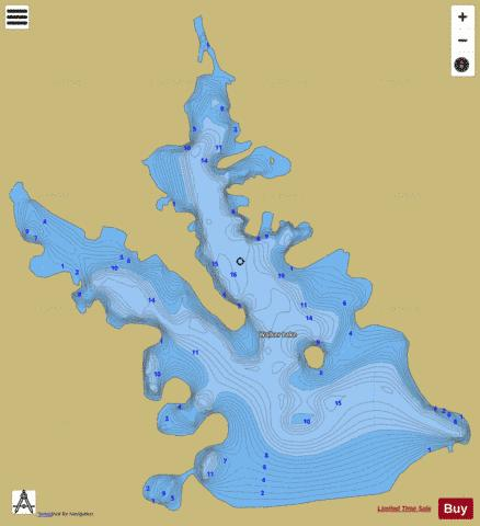 Walker Lake Fishing Map - i-Boating App